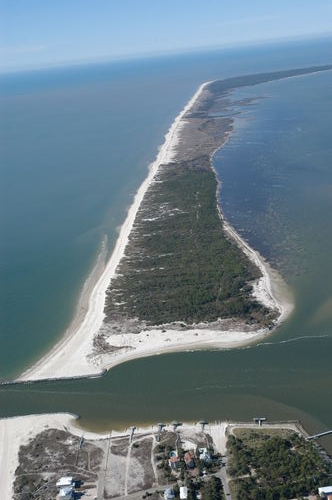 Aerial view of St. George Island