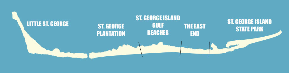 Map of St. George Island
